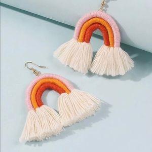 ✨Sale✨New Boho Rainbow Tassle Earrings